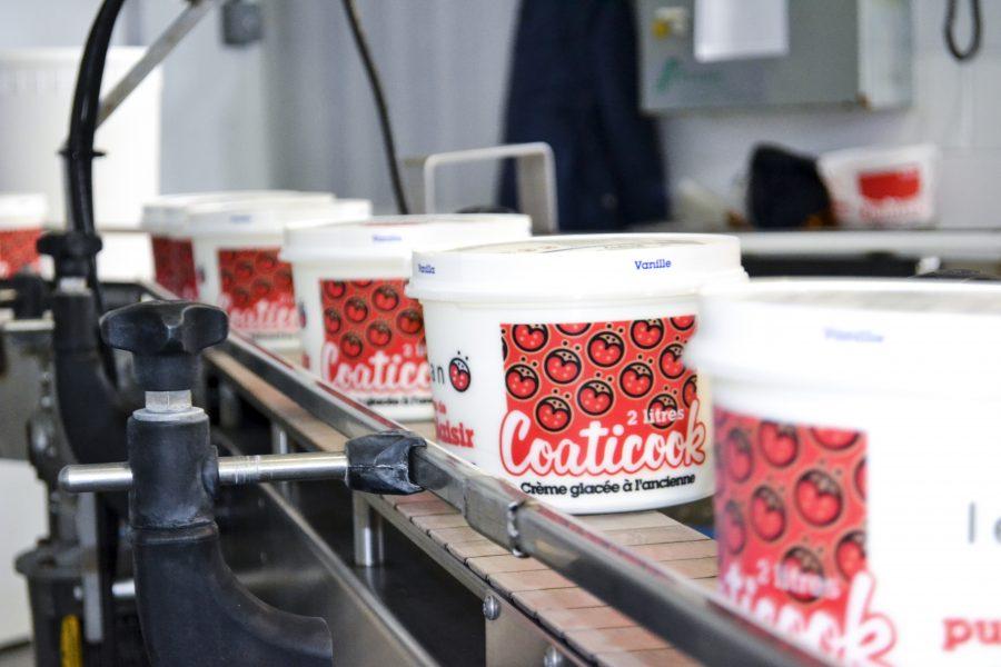 Production de crème glacée pour Leucan 2016